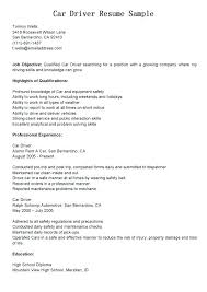Sample Resume For Bus Driver Job View Truck Samples Co Good Examples Of