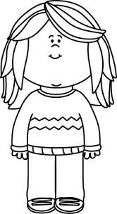 black and white sweater clipart