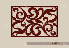 The Template Pattern For Decorative Panel A Picture Suitable Paper Cutting