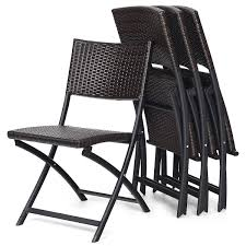 4 PC Brown Rattan Folding Patio Sling Camping Chair Outdoor Dining Set  Backrest Comfortcare 5piece Metal Outdoor Ding Set With 52 Round Table T81 Chair Provence Hampton Bay Mix And Match Stack Patio 49 Amazoncom Christopher Knight Home Lala Grey 7 Chairs Of 4 Tivoli Tub Black Merilyn Rope Steel Indoor Beige Washington Coal Click Pc Stainless Steel Teak Modern Rialto Rectangle 6