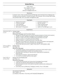 Resume Examples Fast Food Example For Server Restaurant Sample Bartender And Free Templates