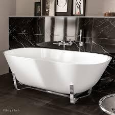 bathtub in modern bauhaus and artdeco style villeroy