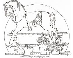 Free Coloring Pages Rocking Horse 1 1200x
