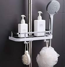 yunnasi duschstangen ablage badezimmer dusche rack verstellbar höhe kein bohren bad aufbewahrung halter 18 25 mm