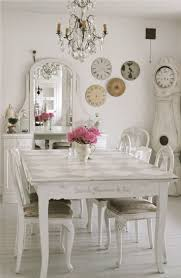 Shabby Chic Dining Room Table And Chairs by Furniture Fabulous White Dining Room Decoration Using Small Pink