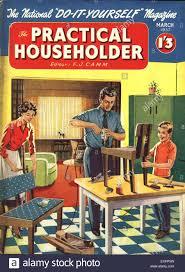 1950s uk practical householder magazine cover stock photo royalty