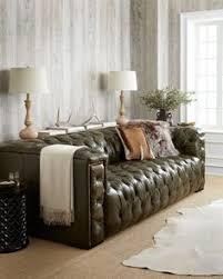 Money Green Leather Sofa 4