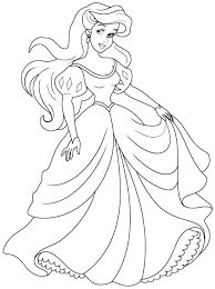 Young Princess Coloring Pages In Ariel Color