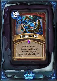 hearthstone could knights of the frozen throne be pushing for a