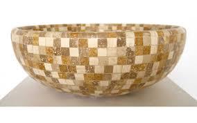 naturstein waschbecken travertin mix mosaik vessel