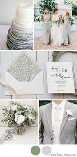 Grey Wedding Palette Gray And Green Neutral Colors White Groomsmen Calligraphy Invitations Colorless Na