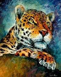 LEOPARD PALETTE KNIFE Oil Painting On Canvas By Leonid Afremov
