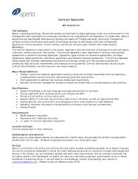 Resume Contract Specialist Example Adout Sample