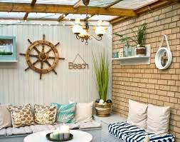 Outdoor Nautical Wall Decor Best Beach Patio Ideas On Porch Pool Quotes Makeover By Completely Coastal