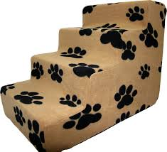 Pet Stairs For Tall Beds by Best Pet Supplies Foam Pet Stairs Black Paw On Beige 4 Step