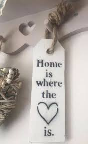 Home Is Where The Heart Distressed Tag Sign