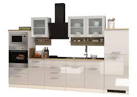 hochglanz creme eiche sonoma küchenzeile küchenblock