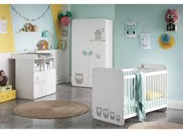 chambre bebe chambre bébé hiboux avec armoire 2 portes weba meubles
