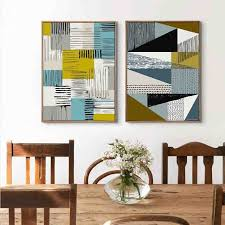 Modern Original Design Nordic Minimalist Geometric Square Abstract Aesthetic Art Canvas Painting Wall Posters For