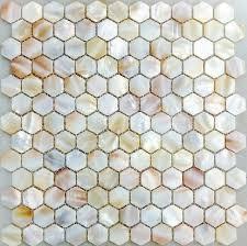 of pearl kitchen backsplash tile mop063 hexagon shell