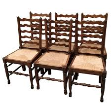 Set Of 6 Country French Ladderback Rush Seat Dining Chairs - Inessa ... Antique Set Of 12 French Louis Xv Style Oak Ladder Back Kitchen Six 1940s Ding Chairs Room Chair Metal Oak Ladder Back Chairs Avaceroclub Fniture Classics Solid Wood Wayfair 10 Rush Seat White Painted Country Shabby Chic Cottage In Theodore Alexander Essential Ta Farmstead A 8 Nc152 Bernhardt Woven
