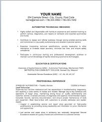 Resume Skills Examples For Mechanic Feat Auto Sample Co To Prepare Astounding