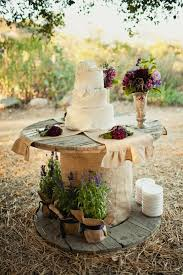 56 Perfect Rustic Country Wedding Ideas Wire SpoolWedding Cake TablesRustic