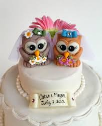 Medium Size Of Cake Toppers Awesome Travel Wedding Topper Custom Same Owl Two Cute Brides Rustic