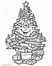 Christmas Tree Coloring Page Print by Christmas Christmas Tree Coloring Page Photo Inspirations Print