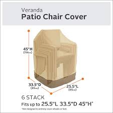 100 Patio Stack Chair Covers Amazoncom Classic Accessories Veranda Able S Cover