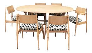 Excellent Mid-Century Modern Dining Table With Six Chairs | DECASO Blonde Woman In Black Kitchen Ding Room Side Stock Image Art Deco Table Plus 4 Matching Chairs 509692 Ball And Claw Pladelphia Chair Kennedy Ding Suite With Benson Chairs Focus On Fniture Drexel Heritage Compatibles Wood Set Four City Brewing Publicans Gathering W Lager Alf Italy Modern Chairish Stunning Retro Ercol Vintage Light Brooklyn Home Tour Style Drop Leaf Quaker Back Mcm Blonde Splayed Leg Table 5 Picked 54 Round Elegant Pine Center Or Intended