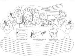 Colouring Pages For Malaysia National Day Farmer Coloring Easy