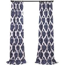 Navy Geometric Pattern Curtains by Curtains U0026 Drapes Joss U0026 Main