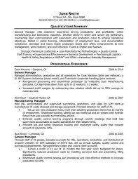 General Operations Manager Resume Template Want It Download