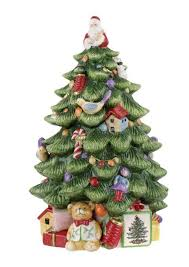 Amazon Spode Christmas Tree Sculpted Shaped Covered Cookie Jar 15 Inch Kitchen Dining