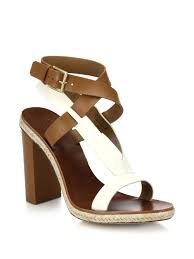 tory burch trimmed leather sandals in brown lyst