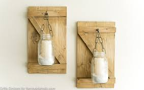 How To Make A Rustic Hanging Mason Jar Candle Holder Or Vase