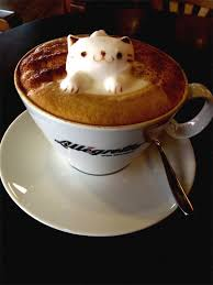 3D CAT Latte Art Cappuccino