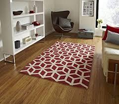 modernes geometrisches teppich wohnzimmer schlafzimmer boden teppich 150 x 230 cm rot