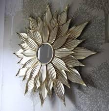 Wall Mirrors Sun Wall Mirror Wall Art Gold 75cm Gold Leaf