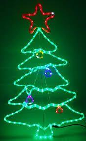 Christmas ConceptsR 115cm Multi Colour Sparkling LED Rope Light Tree