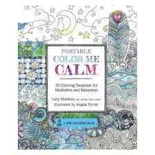 Portable Color Me Calm Adult Coloring Book 70 Templates For Meditation And Relaxation