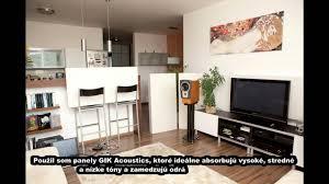 temporär akustisch verbessertes wohnzimmer