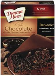 Duncan Hines Decadent Triple Chocolate Cake Mix 21 Ounce Pack of 8