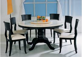 Dining Room Cool Captivating Round Table For 6 With On Set From