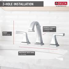 Delta Ara Widespread Faucet by Bathroom 8 Inch Widespread Faucet With 2 Handles In White For