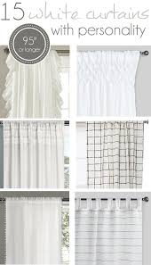 Foil Fringe Curtain Dollar Tree by 15 Long White Curtains With Personality Farmhouse Curtains