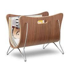 100 Modern Design Magazines Relaxdays Wooden Newspaper Stand Bentwood Magazine Rack Robust With Handles HxWxD 30 X 37 X 25 Cm Brown