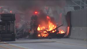 100 Truck Driving Schools In Los Angeles 2 Killed In Fiery Tanker Crash On 105 Freeway In Hawthorne Abc7com