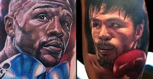 Floyd Mayweather And Manny Pacquiao Tattoos Video